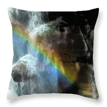 Throw Pillow featuring the photograph Spirit Of Nooksack Falls by Yulia Kazansky