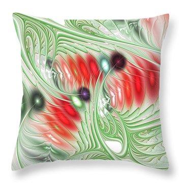 Throw Pillow featuring the digital art Spirit Of Spring by Anastasiya Malakhova