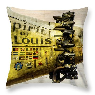 Spirit Of St Louis Throw Pillow