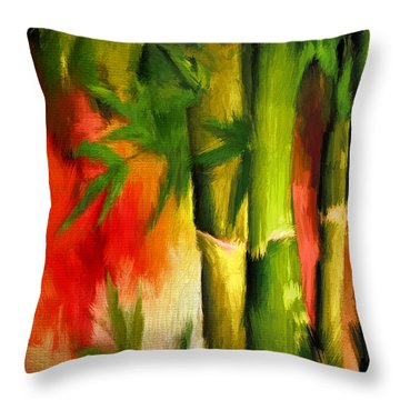 Spirit Of Summer- Bamboo Artwork Throw Pillow