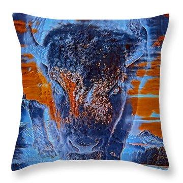 Spirit Of The Buffalo Throw Pillow