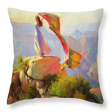 Spirit Of The Canyon Throw Pillow