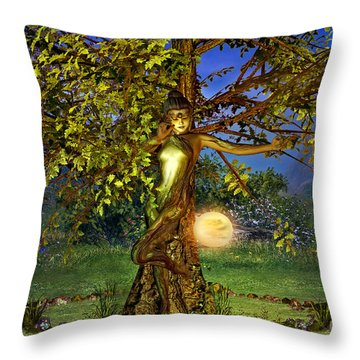 Throw Pillow featuring the digital art Spirit Of The Forest by Shadowlea Is