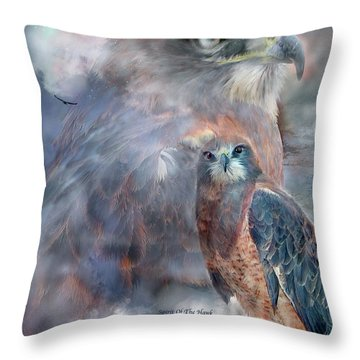 Spirit Of The Hawk Throw Pillow