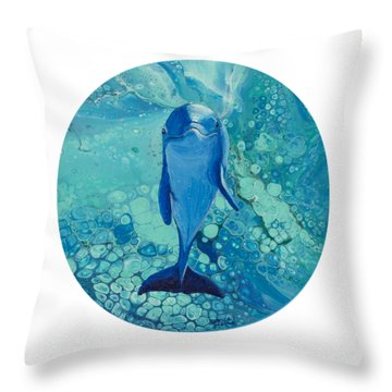 Throw Pillow featuring the painting Spirit Of The Ocean by Darice Machel McGuire