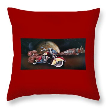 Spirit Of The Wild West Throw Pillow
