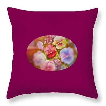 Throw Pillow featuring the painting Spirit Petals by Patricia Schneider Mitchell