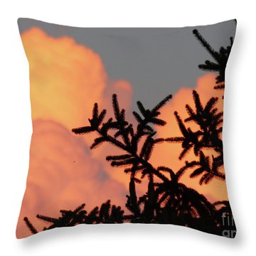 Spirit Pines Throw Pillow
