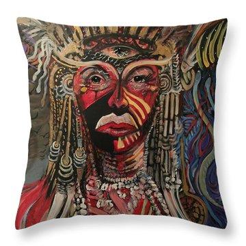 Spirit Portrait Throw Pillow