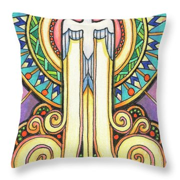 Spirit Rising Throw Pillow by Amy S Turner