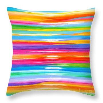 Spirit Throw Pillow by Sandra Lett