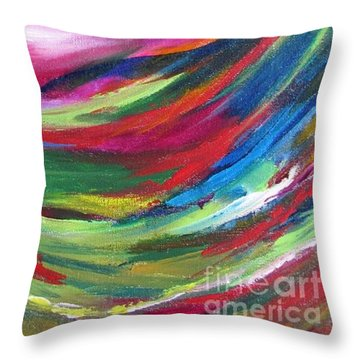 Spirit Takes Flight Throw Pillow by Denise Hoag
