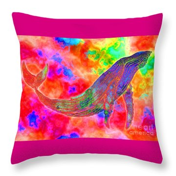 Spirit Whale Throw Pillow by Nick Gustafson