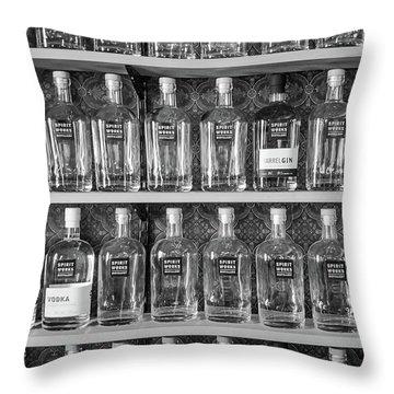 Spirit World Bottles Throw Pillow
