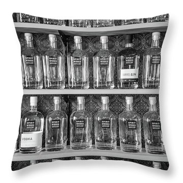 Throw Pillow featuring the photograph Spirit World Bottles by T Brian Jones