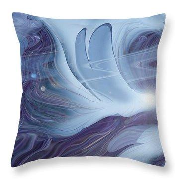 Spirit World Throw Pillow by Linda Sannuti