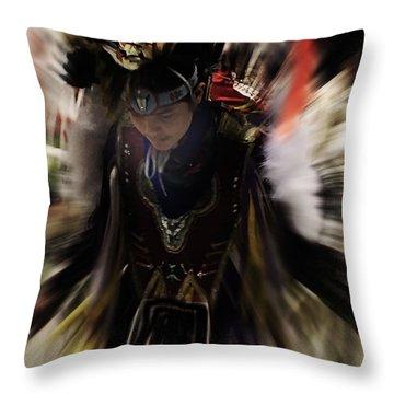 Spirited Dancer Throw Pillow