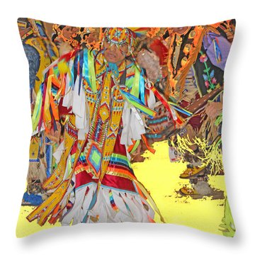 Spirited Moves Throw Pillow