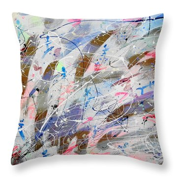 Spirits Dancing Throw Pillow by Patrick Morgan