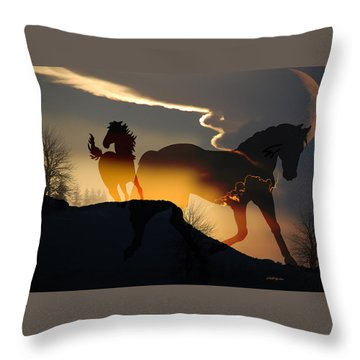 Spirits In The Sky Throw Pillow