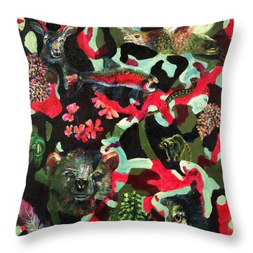Spirits Of The Forest Throw Pillow by Peter Bonk