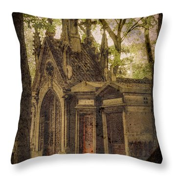Paris, France - Spirits - Pere-lachaise Throw Pillow