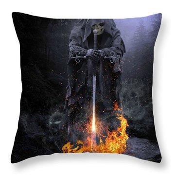 Spirits Released Throw Pillow
