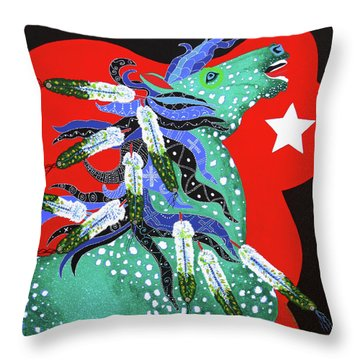Throw Pillow featuring the painting Spirits Rise by Debbie Chamberlin