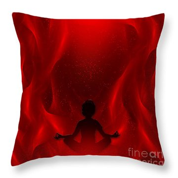 Spiritual Art - Color Meditation - Red By Rgiada Throw Pillow by Giada Rossi