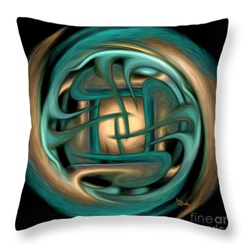 Spiritual Art - Healing Labyrinth By Rgiada Throw Pillow