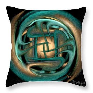 Spiritual Art - Healing Labyrinth By Rgiada Throw Pillow by Giada Rossi