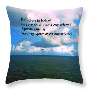 Spiritual Belief Throw Pillow by Gary Wonning