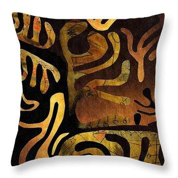 Spiritual Drummer Throw Pillow by Sarah Loft