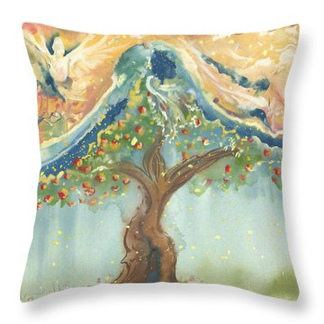 Spiritual Embrace Throw Pillow