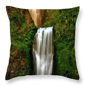 Spiritual Falls Throw Pillow