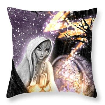 Spiritual Ghost Fantasy Art Throw Pillow