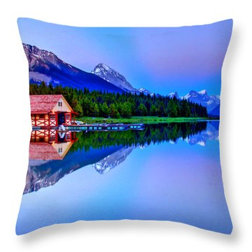 Spiritual Lake Throw Pillow by Scott Mahon