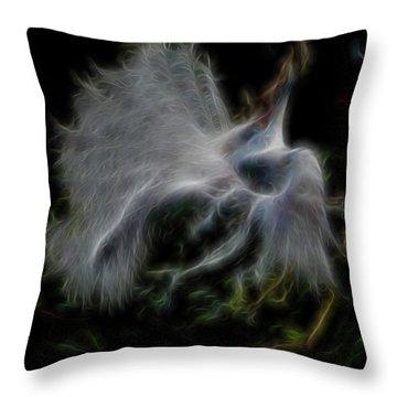 Spiritual Plumage Throw Pillow by William Horden