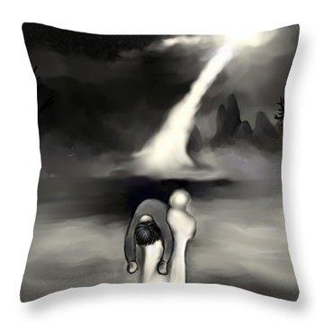 Spiritual Rescue Throw Pillow by Carmen Cordova
