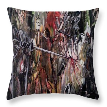 Throw Pillow featuring the painting Spiritual Void by Reed Novotny