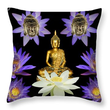 Spiritual Water Lilly Throw Pillow