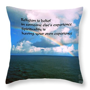 Spirituality Throw Pillow by Gary Wonning
