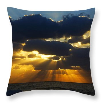 Spiritually Uplifting Sunrise Throw Pillow