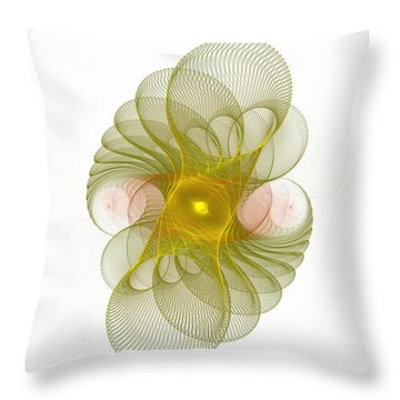 Throw Pillow featuring the digital art Spiro-girations by Richard Ortolano