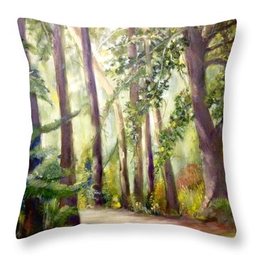 Spirt Of The Green Trees Throw Pillow