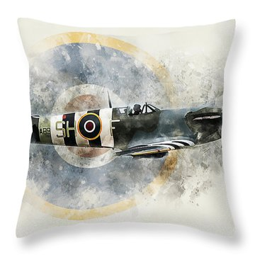 Spitfire Ab910 - Painitng Throw Pillow