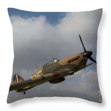 Spitfire Throw Pillow by Gary Bridger