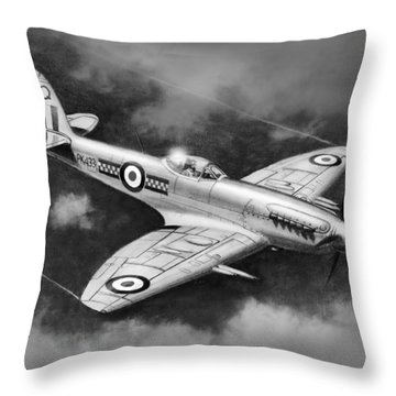 Spitfire Mark 22 Throw Pillow