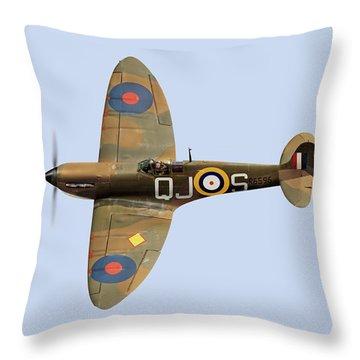 Spitfire Mk 1 R6596 Qj-s Throw Pillow