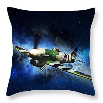 Hawker Typhoon Throw Pillow